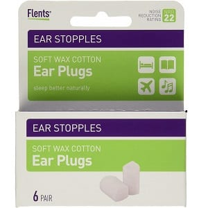Flents Ear Stopples (6 pairs of soft wax ear plugs)