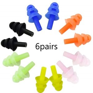 Honbay 6Pairs Reusable Silicone Swimming